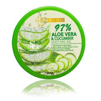 Aloe 97% Soothing Gel - Успокаивающий и увлажняющий гель для лица Алое 97 % и огурец