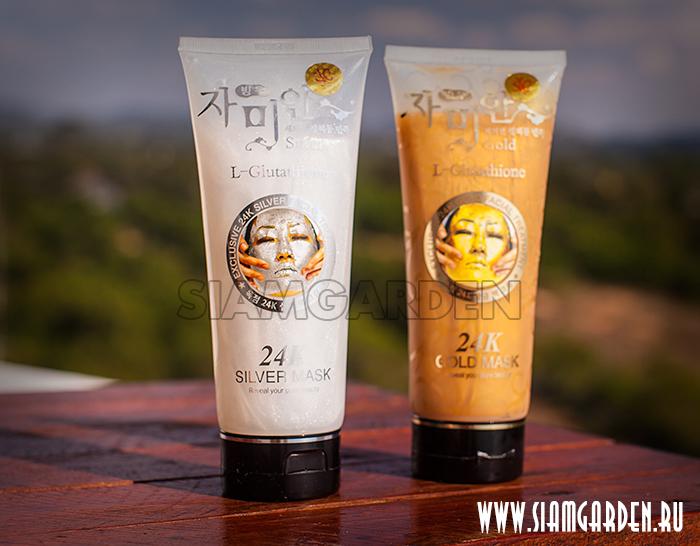 Корейская золотая маска-пленка 24 карата - L-Glutation Gold