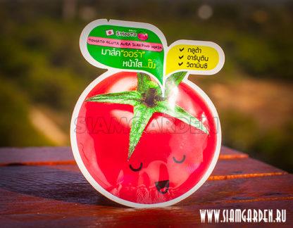 Японская Томатная восстанавливающая маска - Tomato Gluta A-Ha Sleeping Mask от Smooto