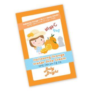 Hallabong Orange Water Drop Cream Baby Bright - Крем для лица с микрочастицами минеральной воды и витамином C