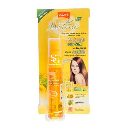 Восстанавливающая Экспресс-сыворотка для окрашенных и поврежденных волос - Lolane Natura daily hair serum magic in One